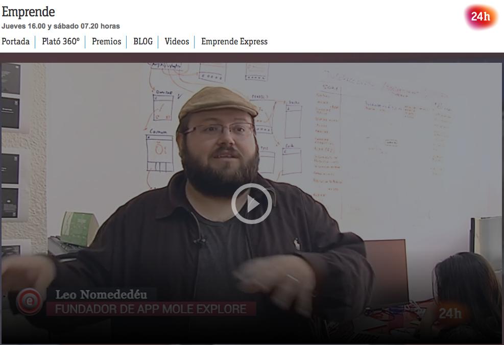 RTVE - Emprende - Leo Nomdedeu explicando Molexplore