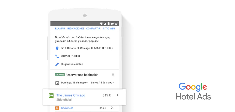 Google hotel ads vista movil