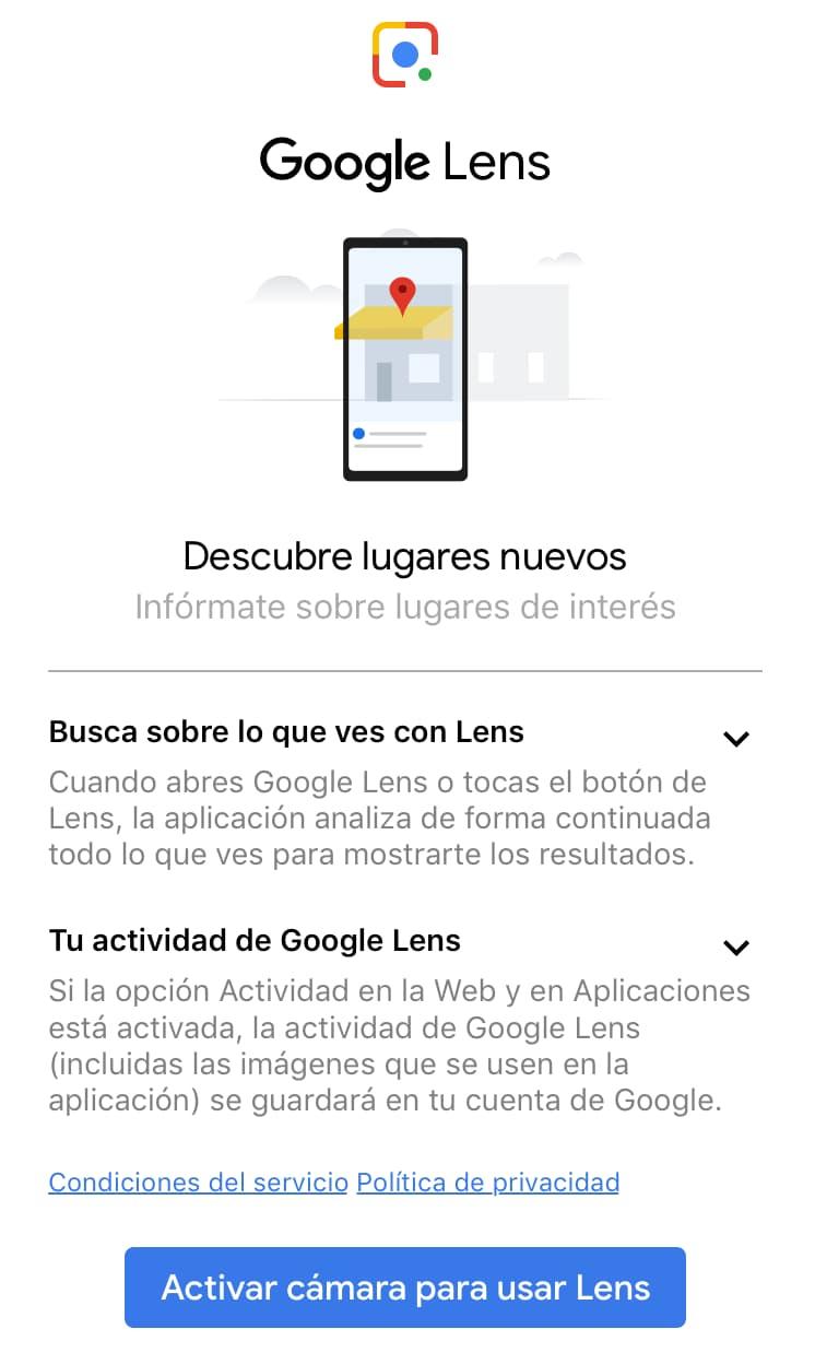 descubre lugares con google lens