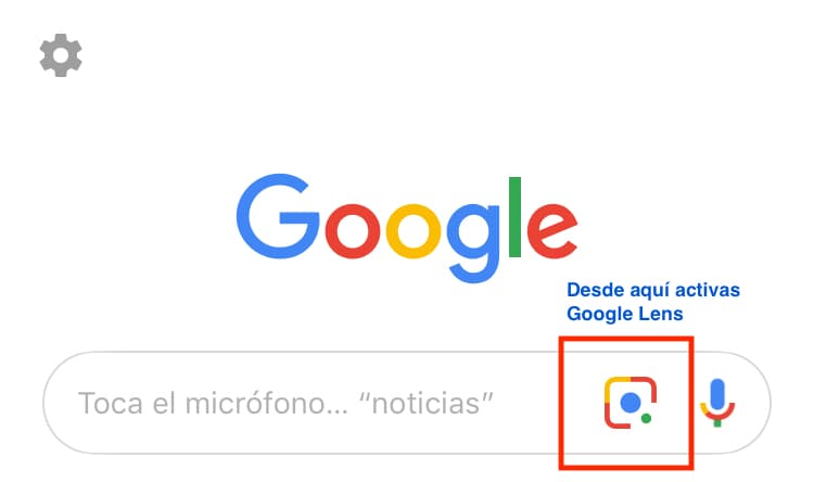 google lens movil