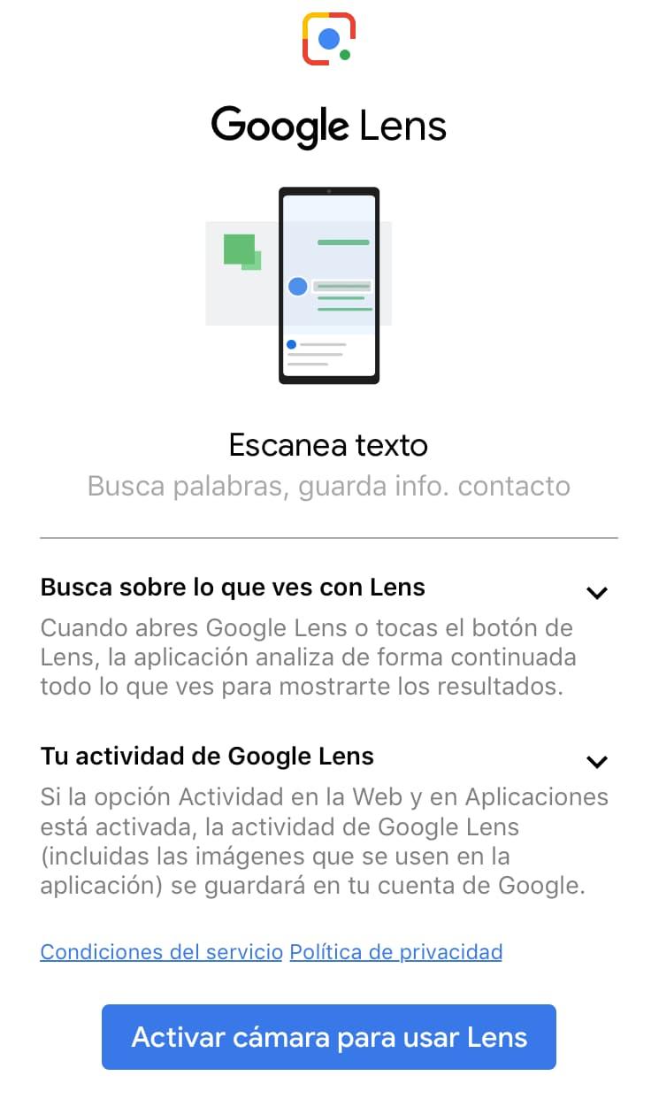 google lens escanea texto